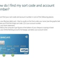 Barclays Account Number